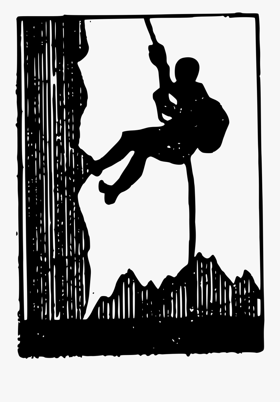 Mountain Silhouette Clipart At Getdrawings - Clip Art Mountain Climbing, Transparent Clipart
