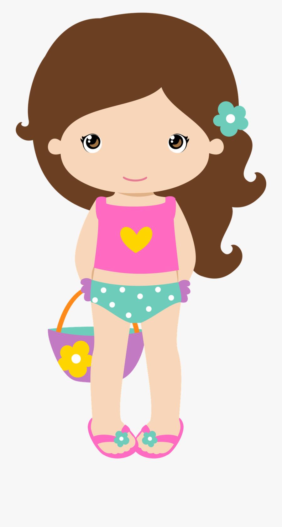 Summer Girl Clipart, Transparent Clipart