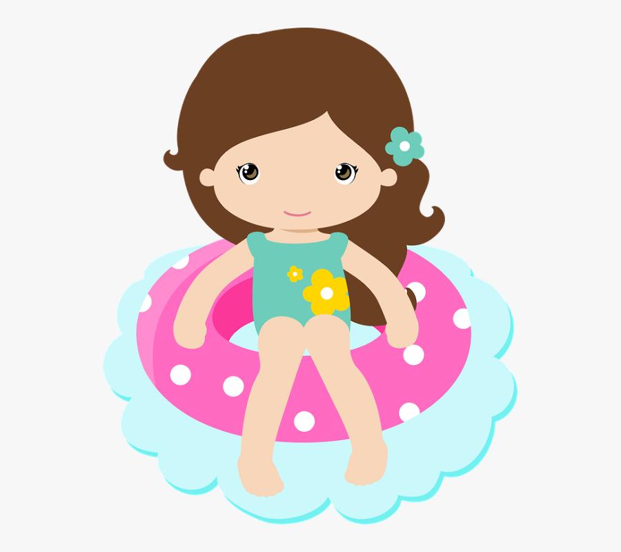 Clip Art Acuatico Pinterest Clip - Menina Pool Party Png, Transparent Clipart