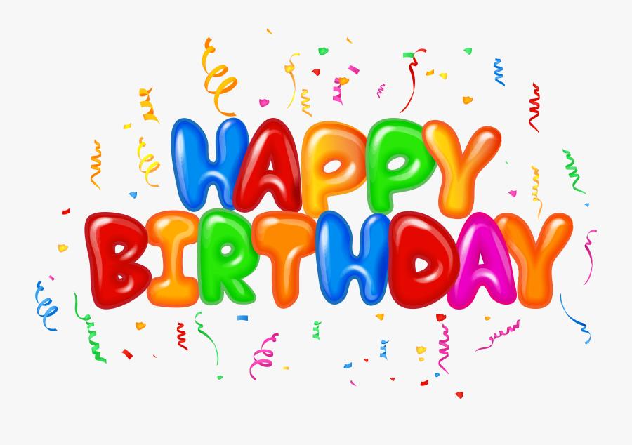 Happy Birthday Text Decor Png Clip Art Image - Happy Birthday Text Png, Transparent Clipart