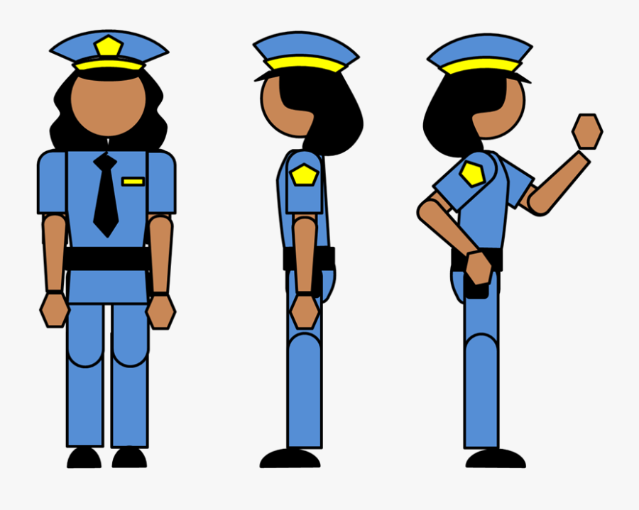Police Clipart Easy - Police Officer Uniform Drawing, Transparent Clipart