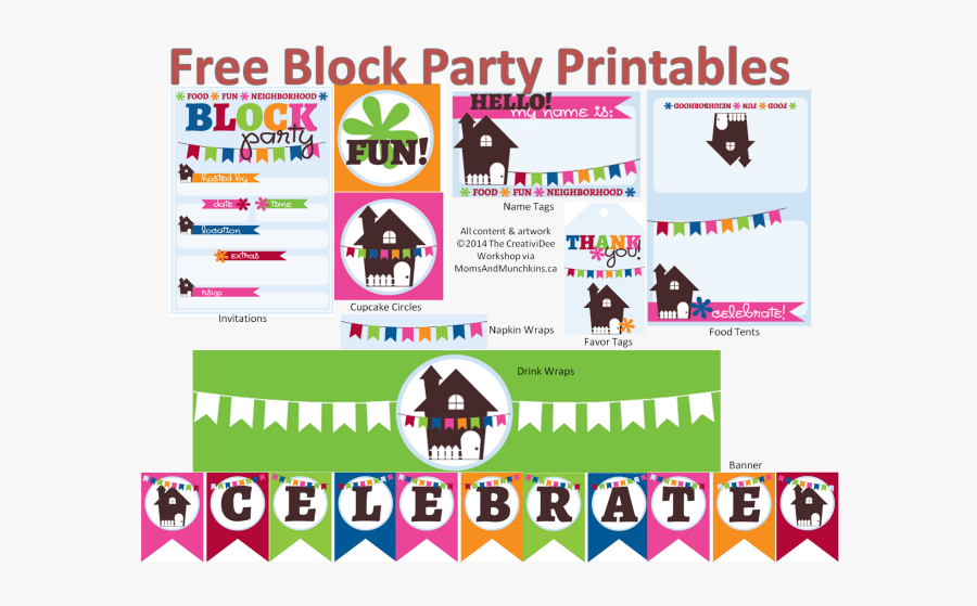 Clip Art Pool Party Flyer Templates Free - Printable Block Party Flyer Template Free, Transparent Clipart
