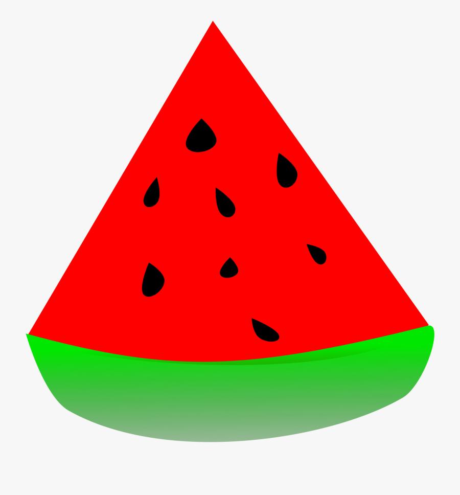 Makanan Buah Merah Triangle Watermelon Clip Art Free