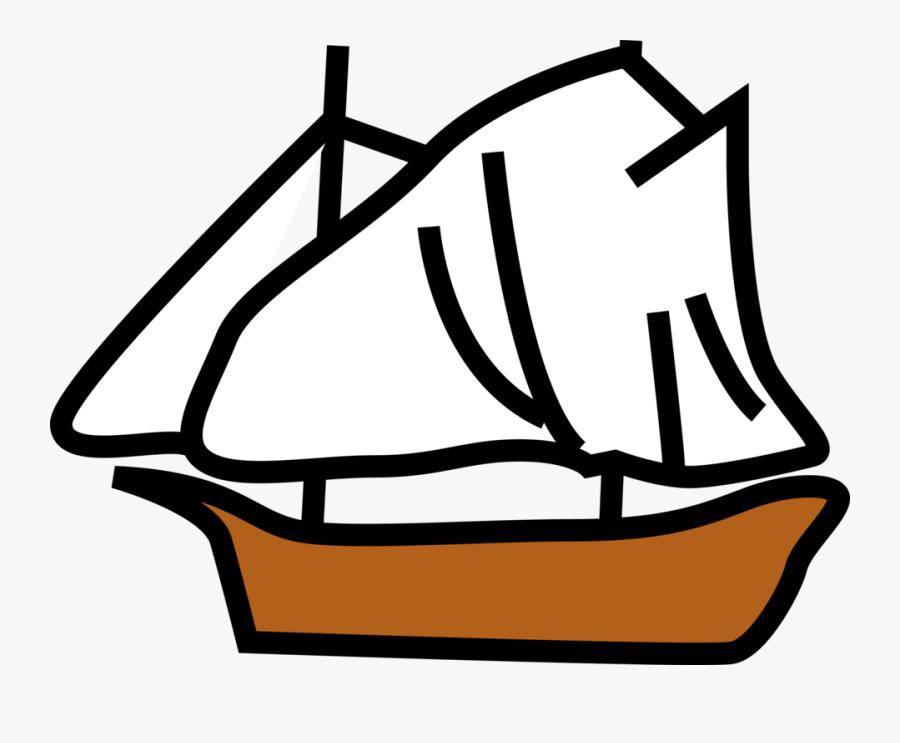 Boat Ocean Sail Sailing Sea Ship - Sail Ship Clip Art, Transparent Clipart