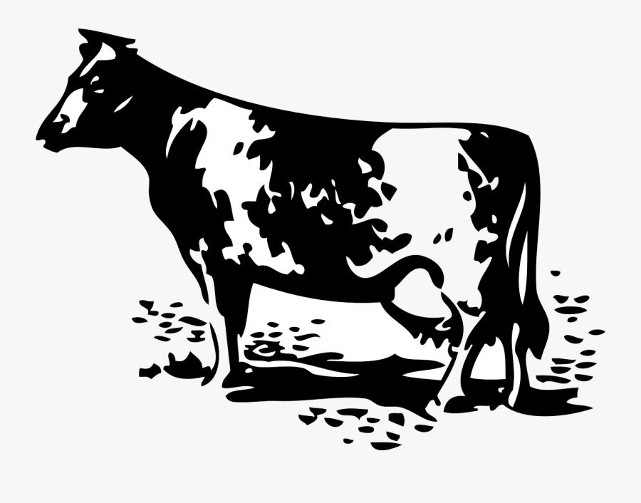 Dairy Farm Black And White, Transparent Clipart