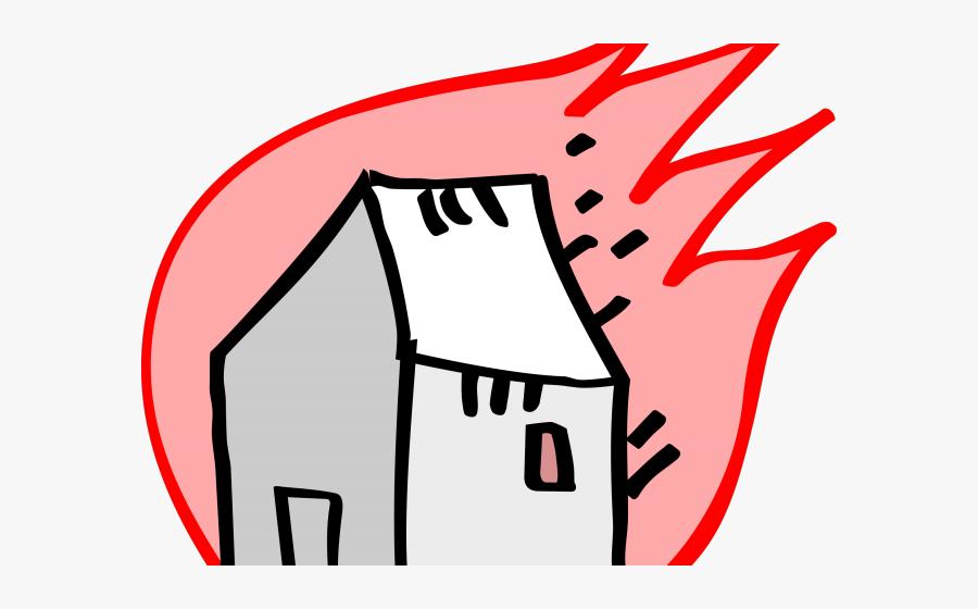 Burning House Cartoon, Transparent Clipart