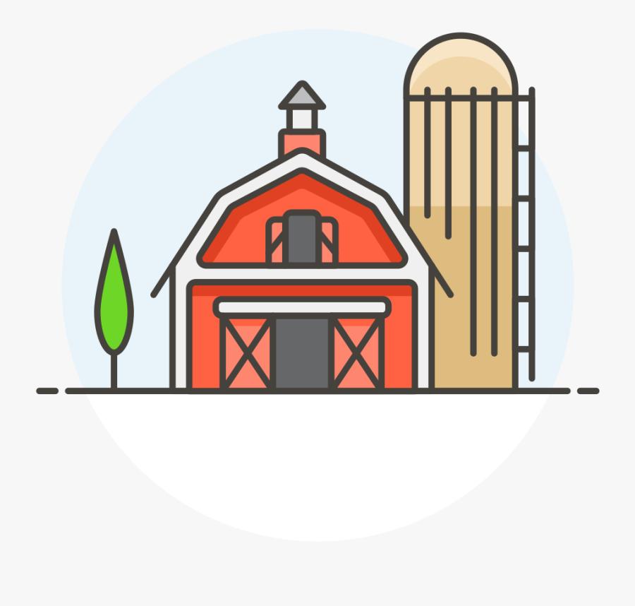 Barn - Transparent Farm Icon Png, Transparent Clipart