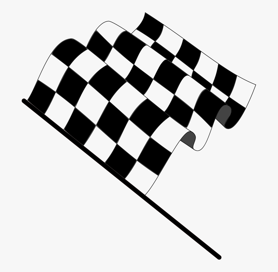 Sports Clip Art Of A Banner Trophy And Two Checkered Checkered Flag Png Free Transparent Clipart Clipartkey