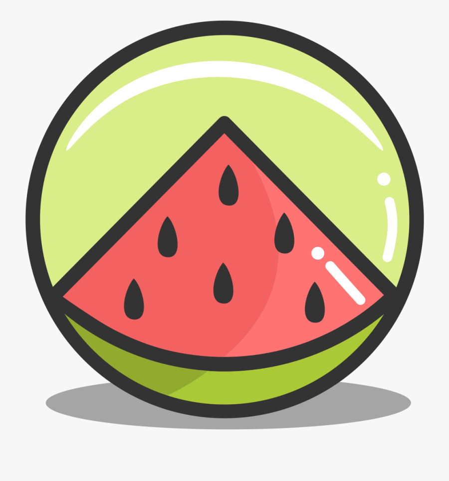 Button Watermelon Icon - Food Icon Png Watermelon, Transparent Clipart