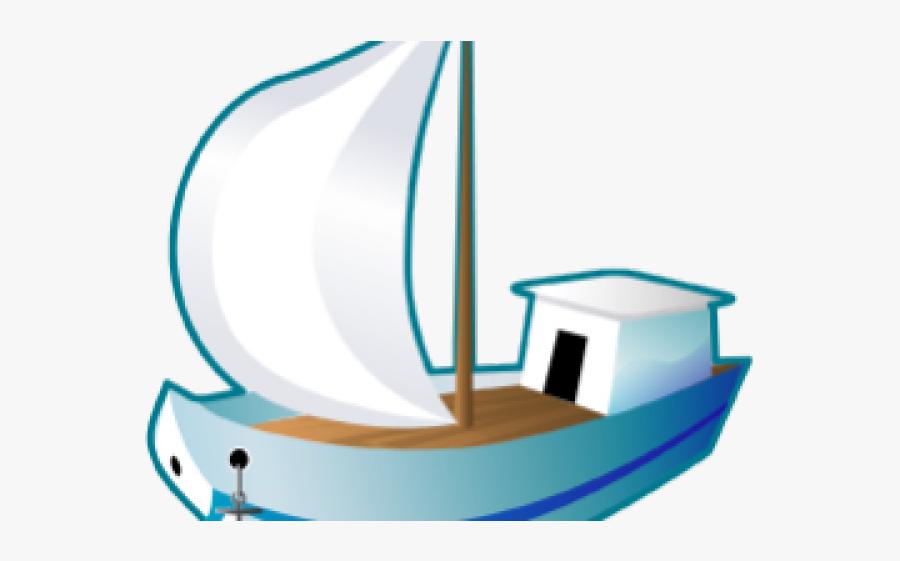 Cartoon Sailing Ship, Transparent Clipart