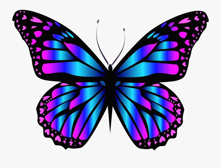 Blue And Purple Butterfly Png Clipar Imageu200b Gallery - Blue And Purple Butterfly Png, Transparent Clipart