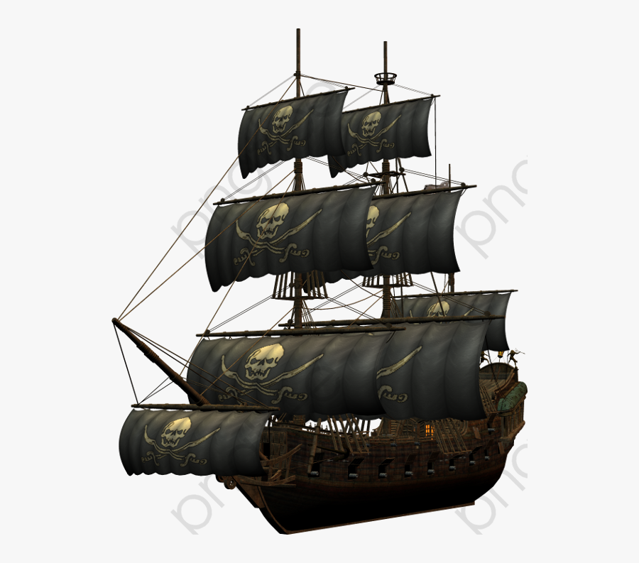 Pirate Ship, Pirate Clipart, Ship Clipart, Wooden Boat - Transparent Pirate Ship Png, Transparent Clipart