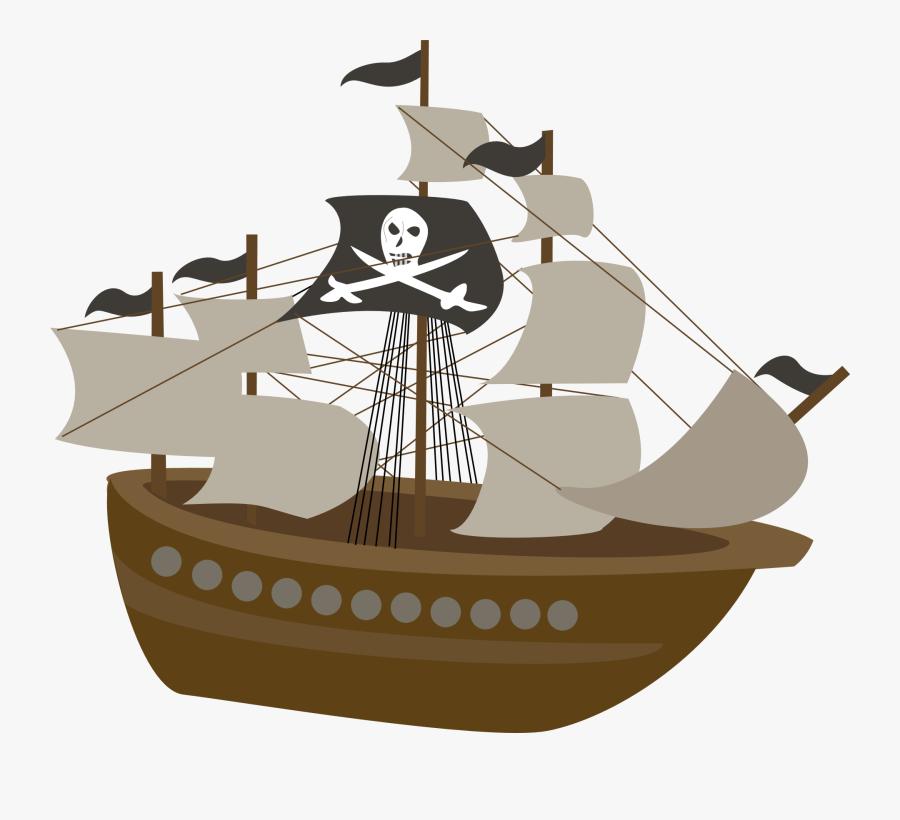 Transparent Background Pirate Ship Clipart, Transparent Clipart