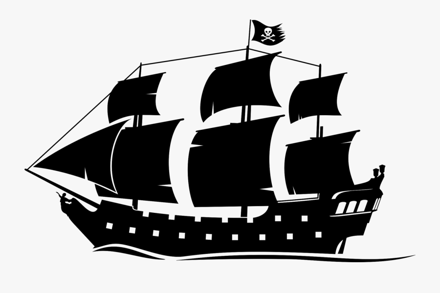 Pirate Ship Silhouette Clipart - Black Pearl Ship Png, Transparent Clipart