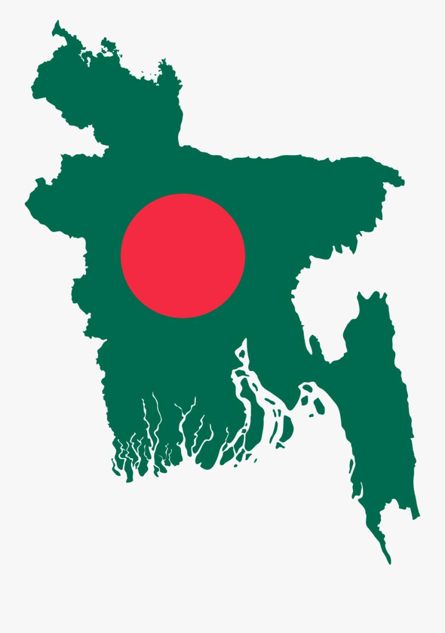 Bangladesh Map Flag - Solar Radiation In Bangladesh, Transparent Clipart