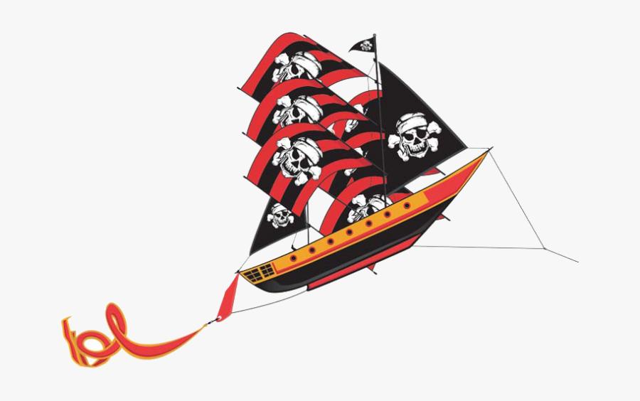 Pirate Ship 3-d Supersize Nylon Kite - Pirate Ship Kite, Transparent Clipart