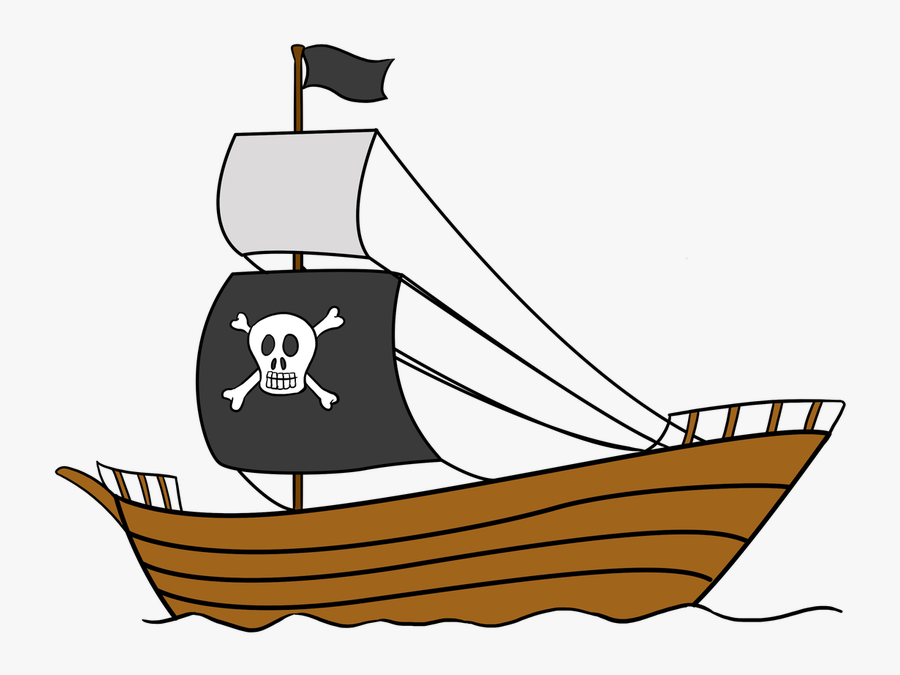 How To Draw A Pirate Ship Step By Step Easy Drawing - Pirate Ship Easy Steps Drawing, Transparent Clipart
