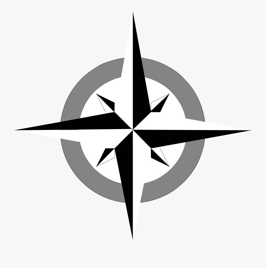 Compass Rose - Compass Rose Clip Art, Transparent Clipart