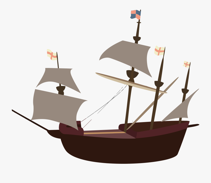 Pirate Ship - Cartoon Pirate Ship .png, Transparent Clipart