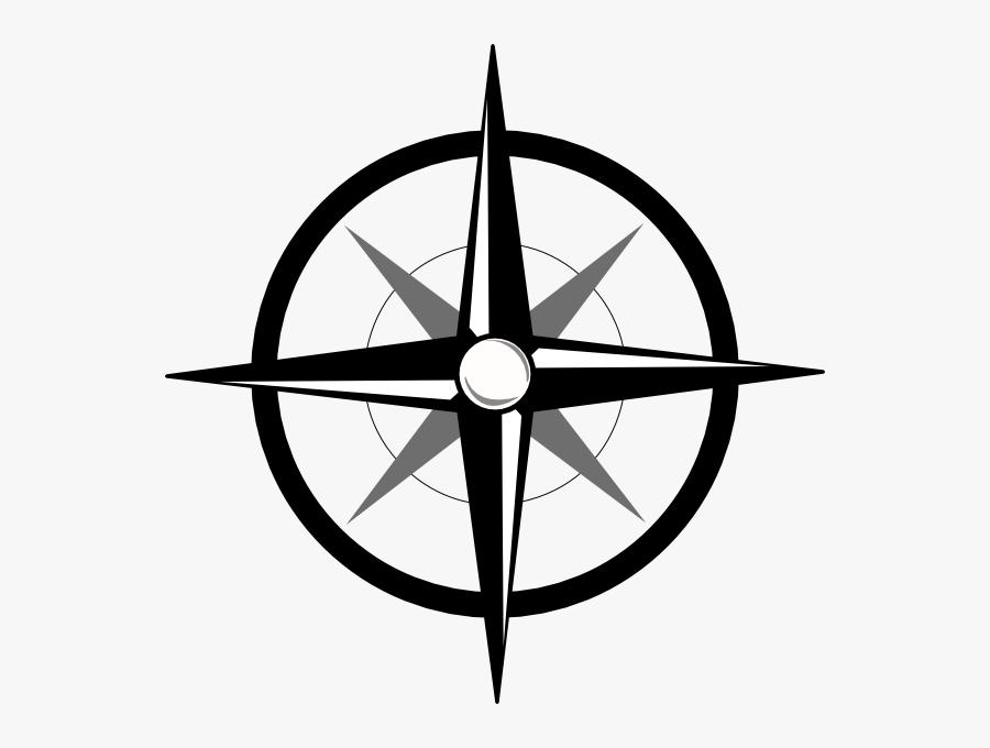 Compass Clipart Clipart - Simple Compass Png, Transparent Clipart