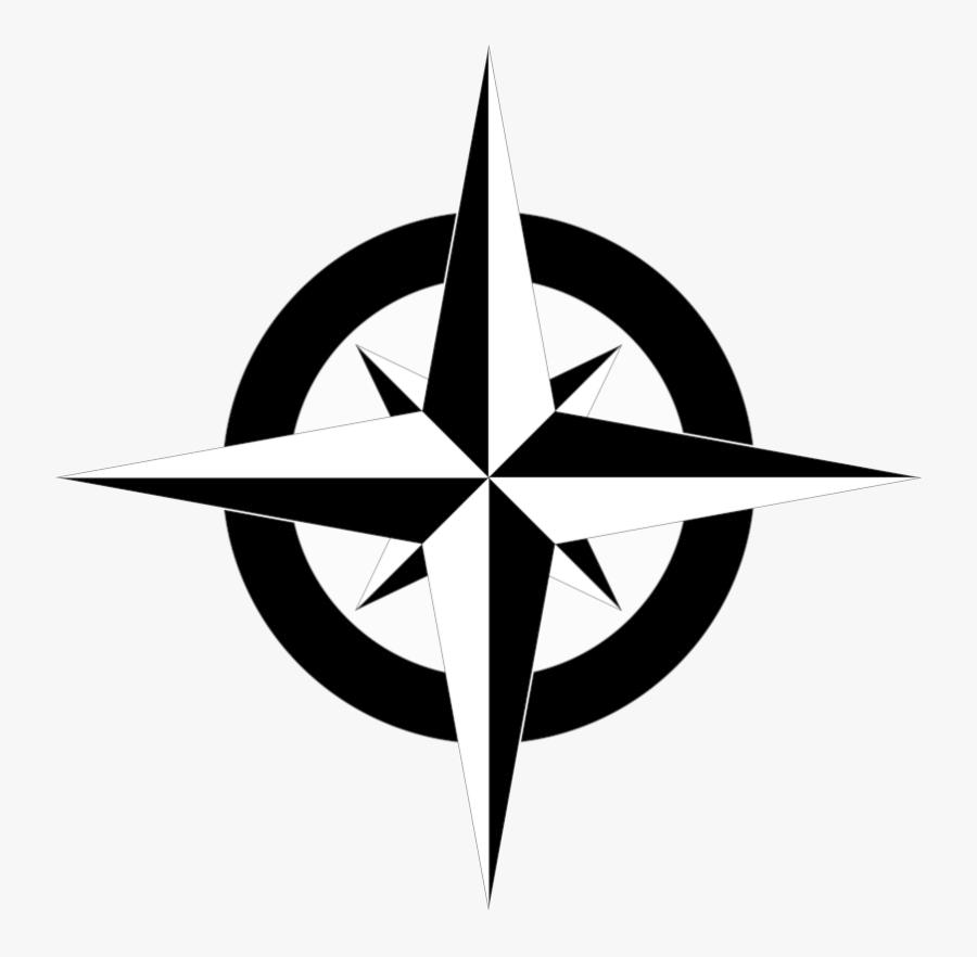 Compass Clipart North Arrow Simple Map Vector Transparent - South On A Compass, Transparent Clipart
