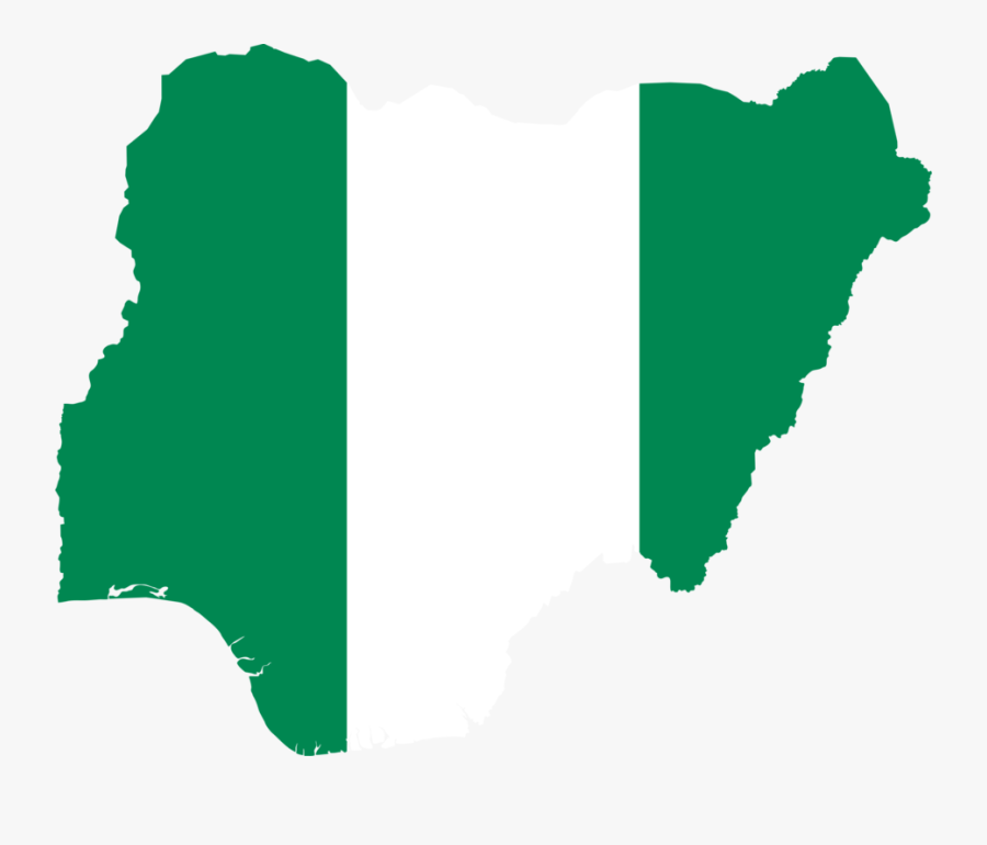 Map,leaf,area - Nigeria Flag In Country, Transparent Clipart