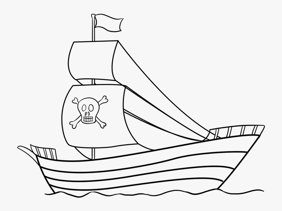 Easy Drawing Guides On Twitter Are You Ready To Draw - Easy To Draw Pirate Ship, Transparent Clipart