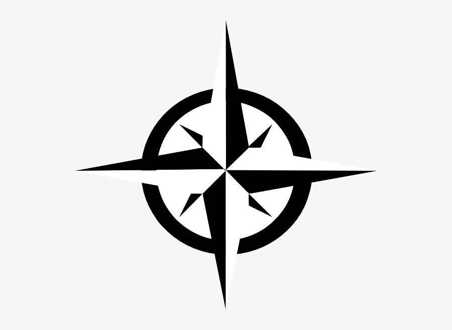 White Compass Rose Clip Art - - Compass Rose Clip Art, Transparent Clipart