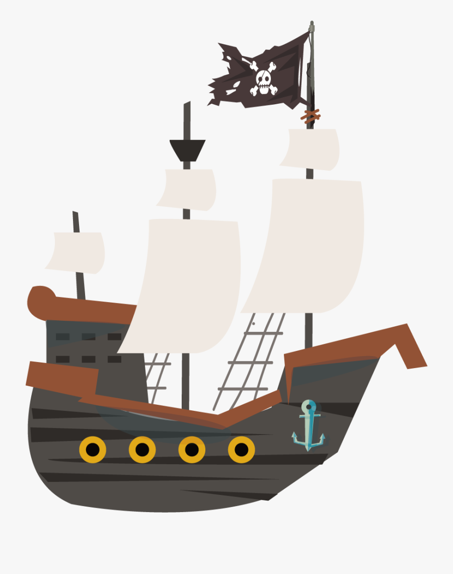 Piracy Ship Cartoon Transprent Png Free Download - Pirate Ship No Background, Transparent Clipart