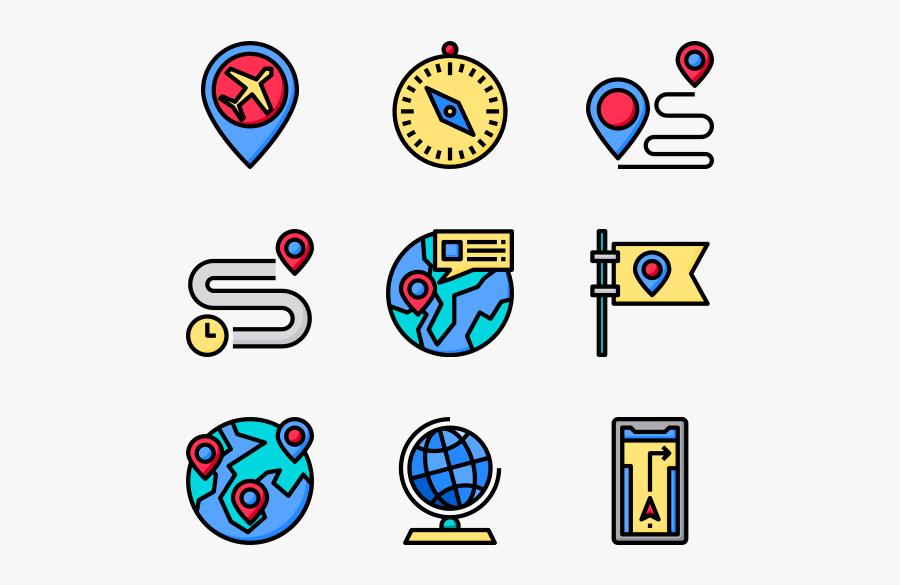 Map Clip Art Pin H - Iconos Para Mapas Mentales Png, Transparent Clipart