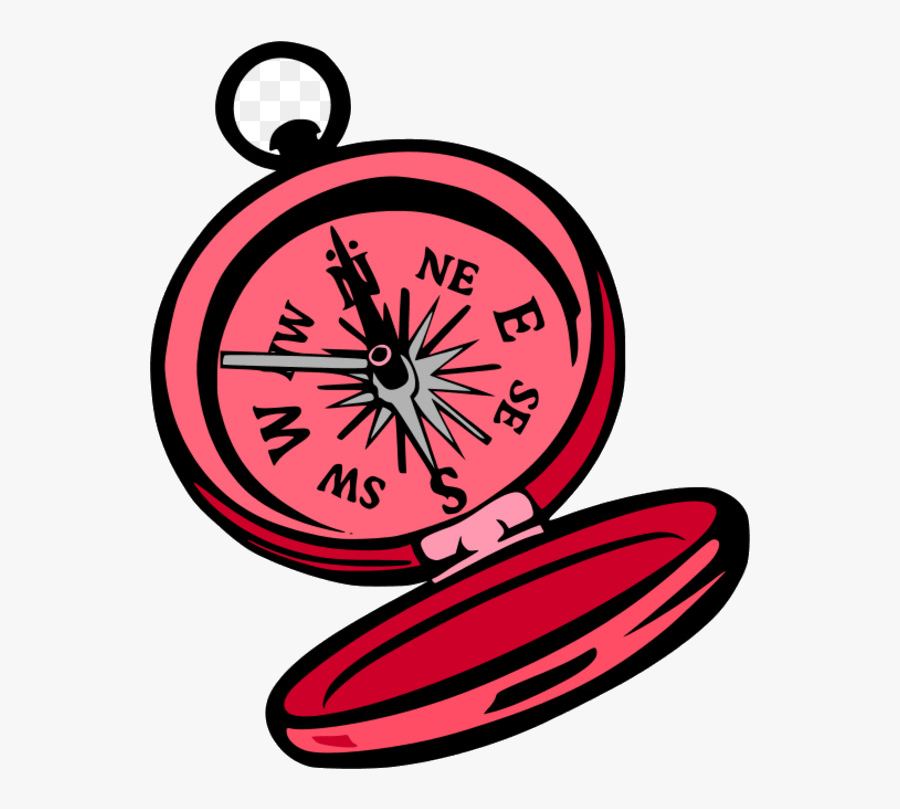 Compass Computer Icons Rose Plant Flower Transparent - Transparent Cartoon Compass, Transparent Clipart
