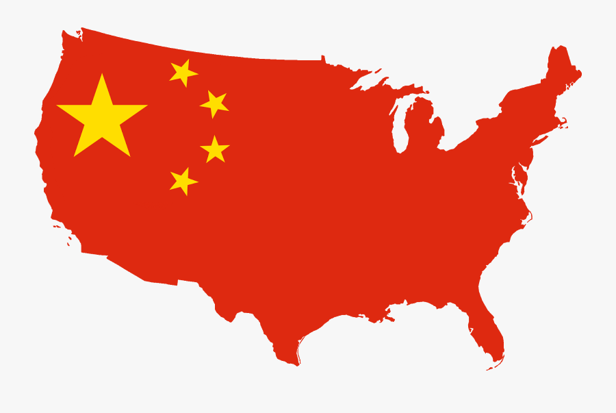 Chinese Map Clipart - Flag Map Of China, Transparent Clipart