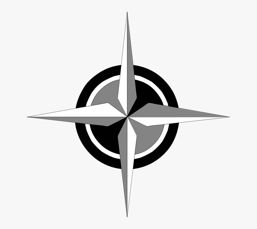 Free Vector Compass Rose Clip Art - Compass Rose, Transparent Clipart