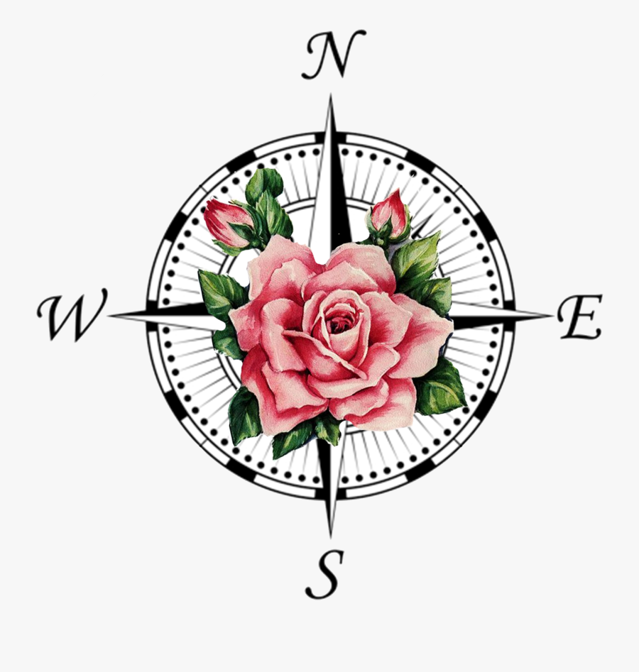 Compass Rose Tattoo Transprent Png Free Download - Compass Rose, Transparent Clipart