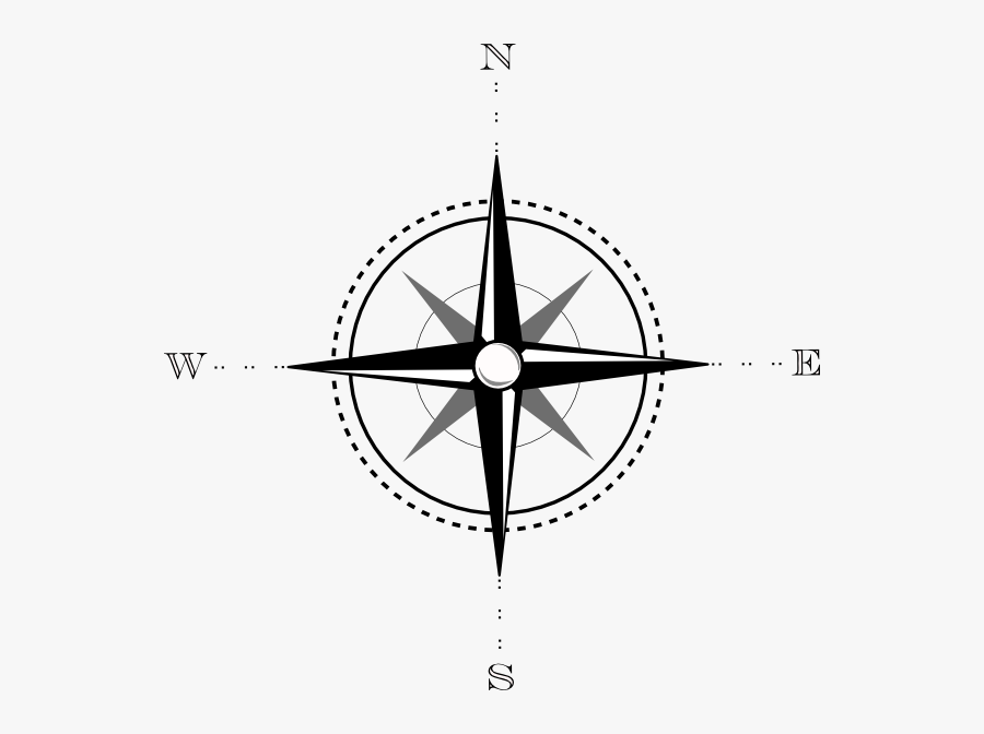 Compass Clip Art At Clker - Compass For Maps Png, Transparent Clipart