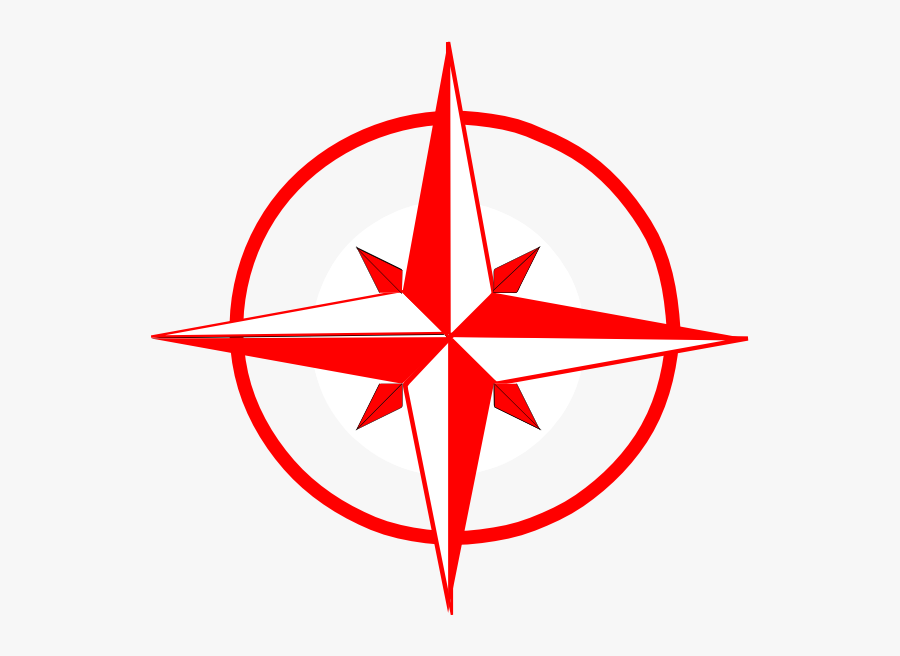 Compass Red And Black, Transparent Clipart