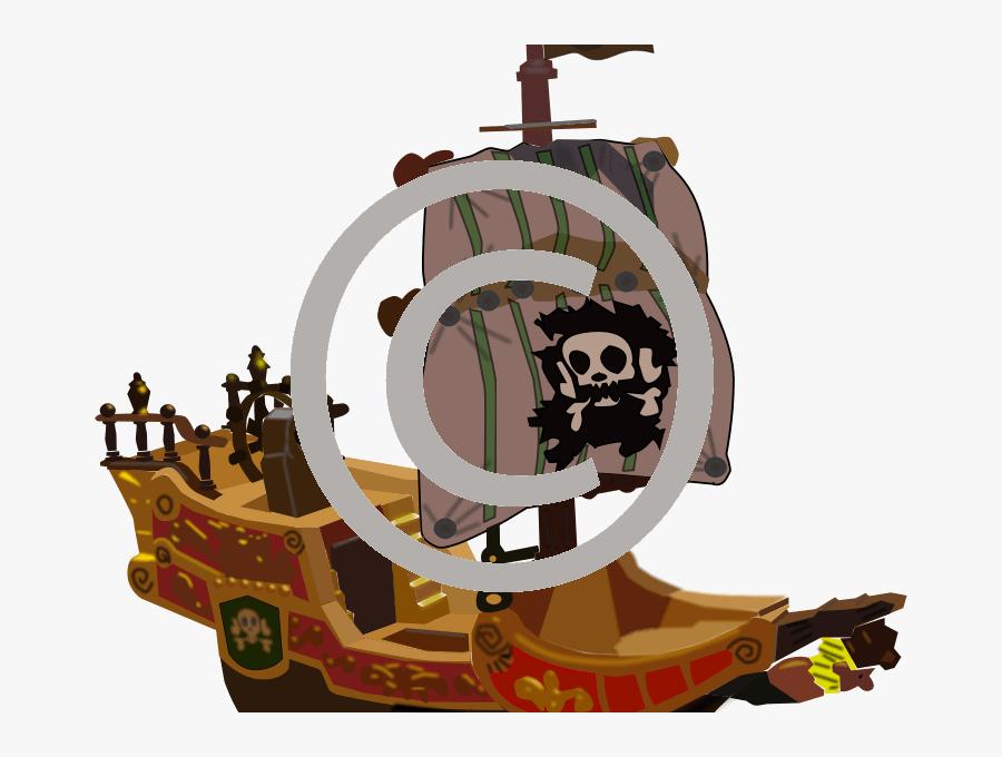 Cartoon Pirate Ship 3d, Transparent Clipart