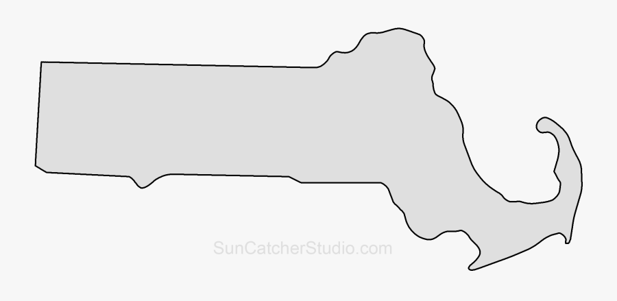 Clip Art Outline Printable State Shape - Outline Massachusetts Map No Background, Transparent Clipart