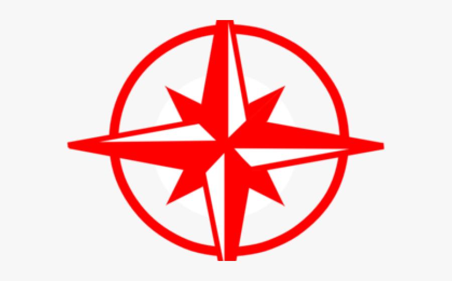 Compass Clipart Four - North South East West Clipart, Transparent Clipart