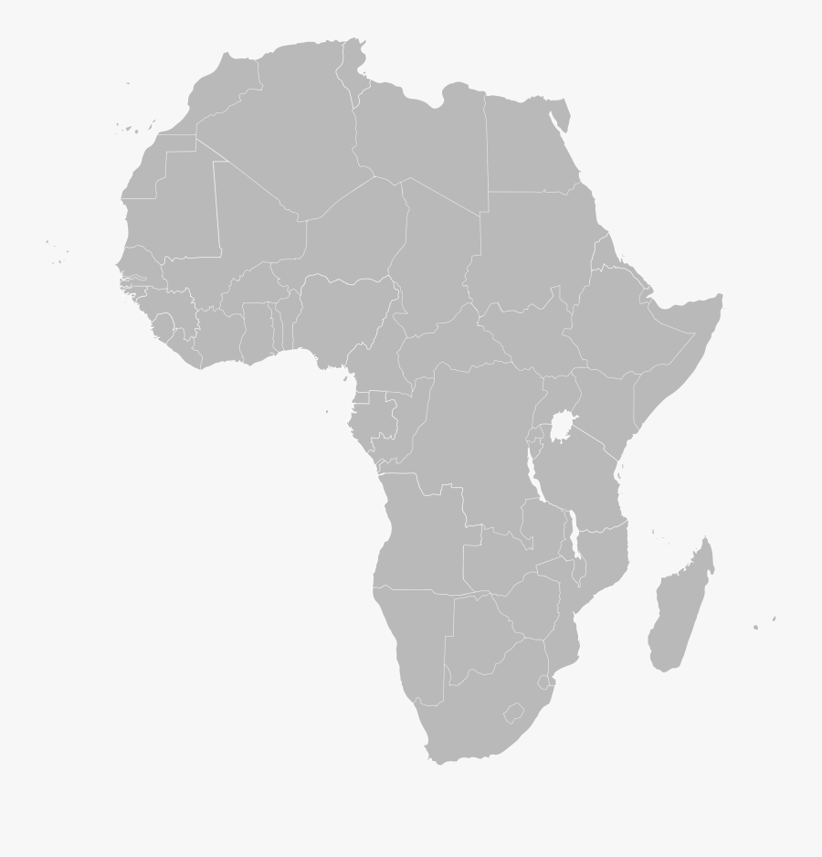 Clipart Outline Map Africa - Africa Map, Transparent Clipart