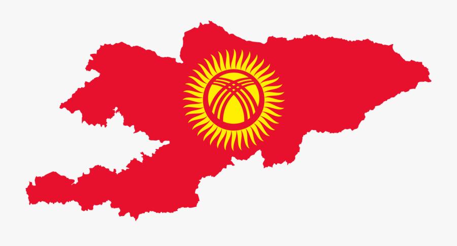 Kyrgyzstan Map Flag - Kyrgyzstan Map And Flag, Transparent Clipart