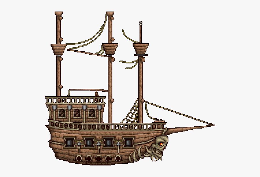 Terraria Pirate Invasion Ship, Transparent Clipart