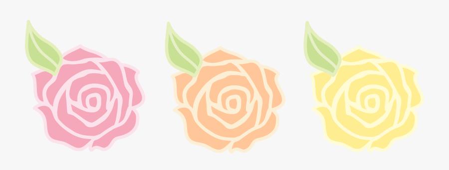 Clipart Flowers Pastel - Cartoon Pastel Pink Flowers, Transparent Clipart