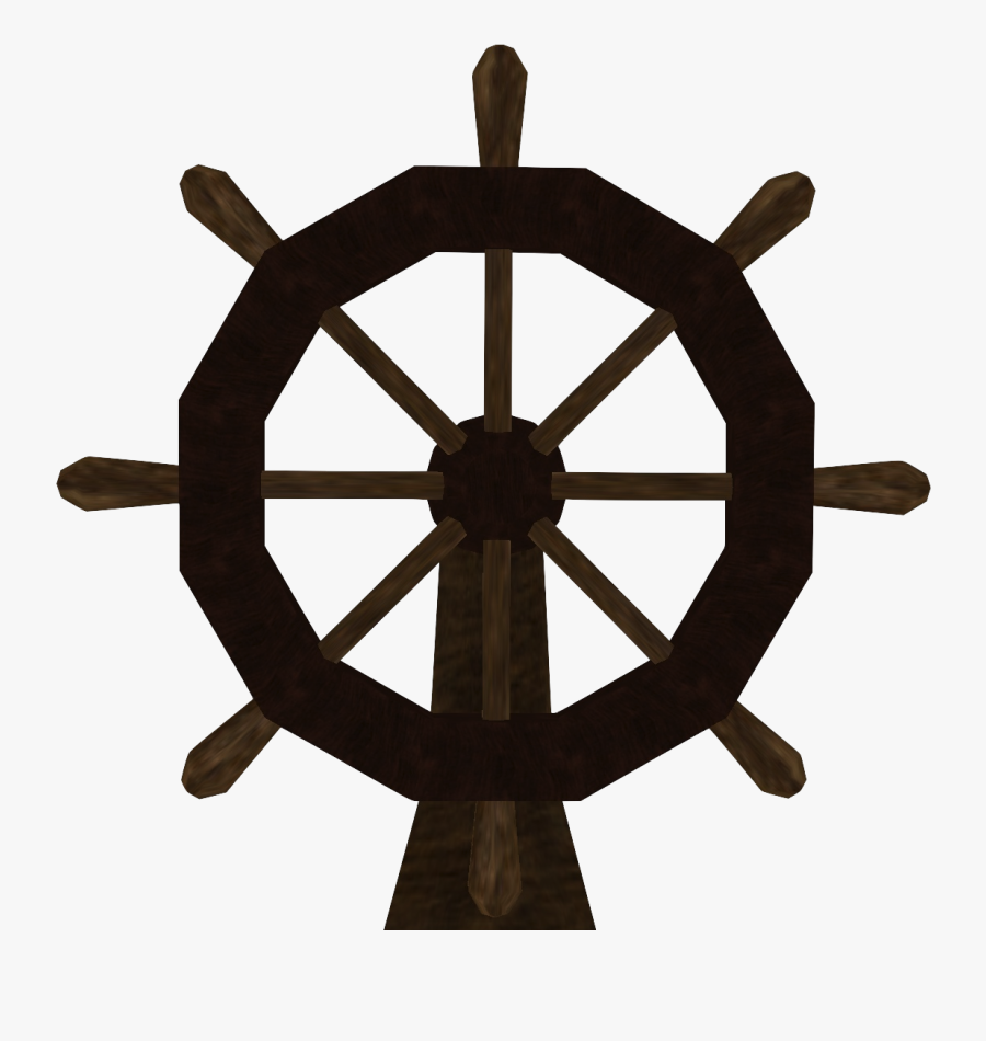 Clipart Map Pirate Ship - Ships Wheel Compass Rose, Transparent Clipart