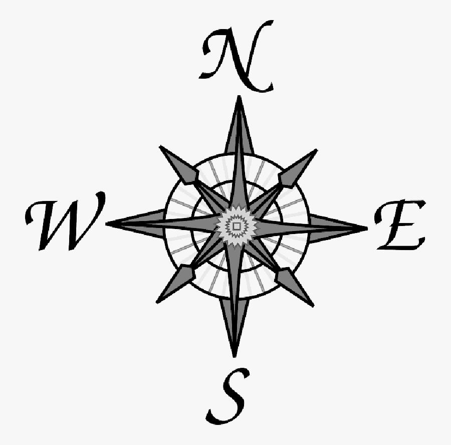 Old Map Symbols - North East South West Logo, Transparent Clipart