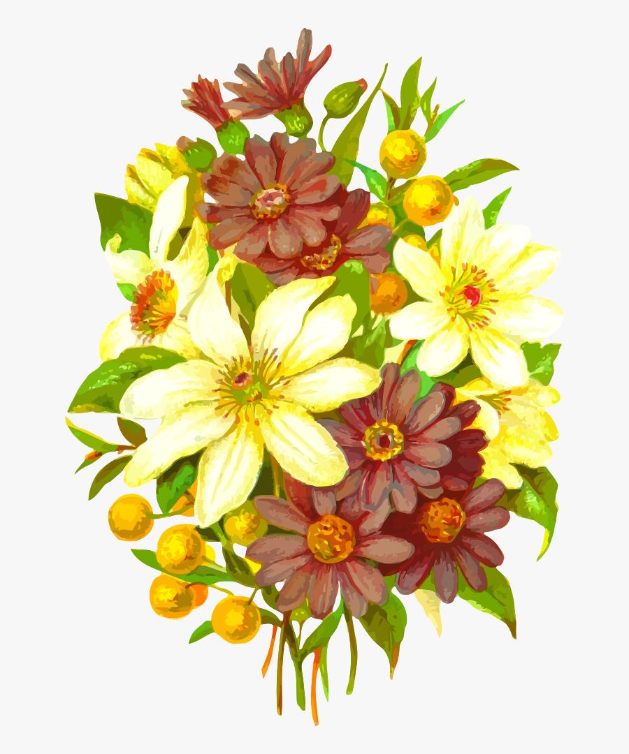 Flower Bouquet Cut Flowers Drawing Floral Design - Bouquet Drawing, Transparent Clipart
