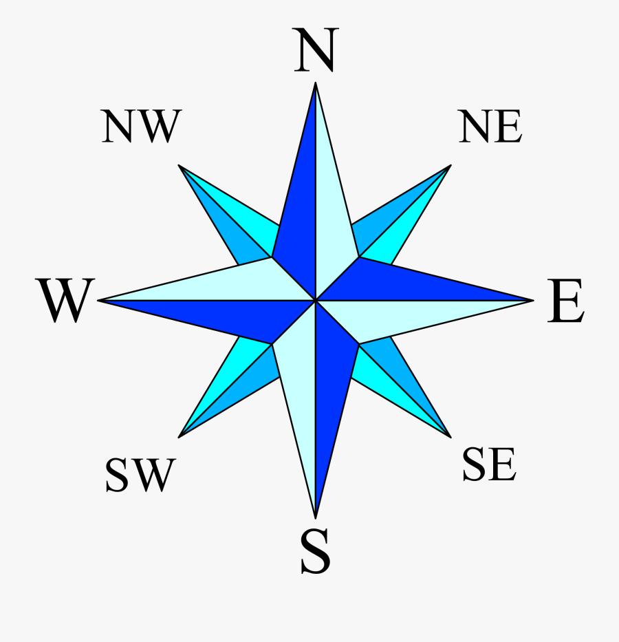 Clip Art Compass Rose Pic - Compass Rose, Transparent Clipart