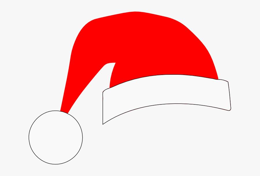 Santa Claus Hat Silhouette, Transparent Clipart