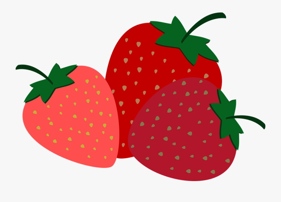 Strawberries Fruit Sweet - Strawberries Graphic, Transparent Clipart