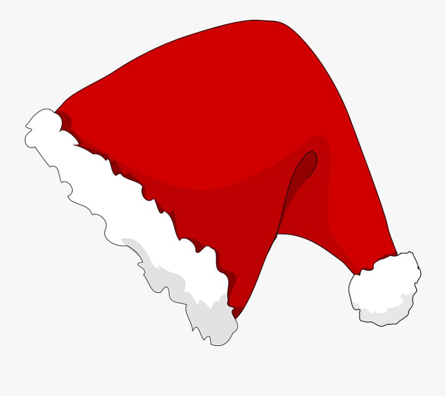 Santa Hat Clipart Hut - Santa Claus Hat Cartoon Png, Transparent Clipart